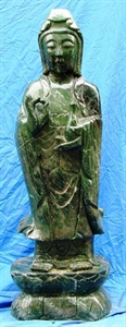 Picture of LARGE GREEN JADE STANDING KWANYIN (LH34)