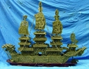 "Picture of HUGE 60""(1.5 meter) GREEN JADE DRAGON BOAT  (BJ150)"