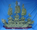 "Picture of LARGE 48"" GREEN JADE DRAGON BOAT  (BJ120)"