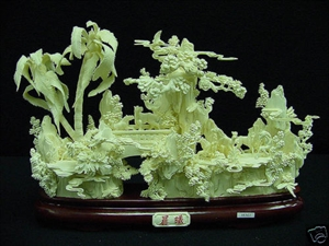 Picture of BONE HORSES W. PALM TREE (98M3)