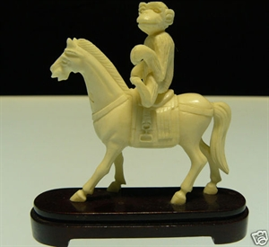 Picture of Bone Monkey Riding Horse (2106B)