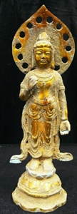 Picture of Antique Brass Standing Kwanyin (BR02)