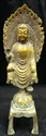 Picture of Antique Brass Sitting Buddha (BR04)
