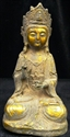 Picture of Antique Brass Sitting Buddha (BR05)