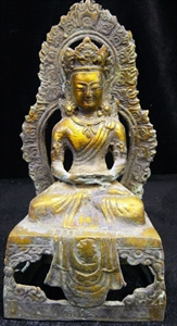 Picture of Antique Brass Sitting Kwanyin (BR06)