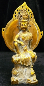 Picture of Antique Brass Kwanyin - Guangyin (BR01)