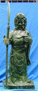 Picture of LARGE JADE STANDING GENERAL KWAN / WARRIOR (LH31)