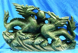 Picture of LARGE JADE 2 DRAGONS (LH30)