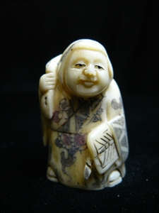 Picture of ANTIQUE BONE JAPANESE NETSUKE (N078)