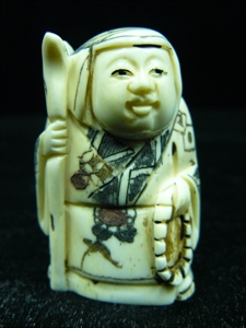 Picture of ANTIQUE BONE JAPANESE NETSUKE (N082)