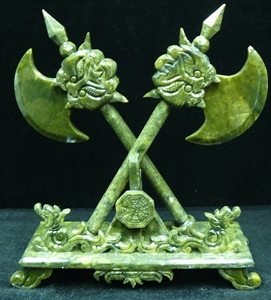 Picture of PAIR OF JADE DRAGON AX (LH41)