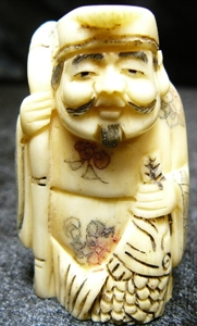 "Picture of 2"" ANTIQUE BONE JAPANESE NETSUKE (N025)"