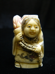 "Picture of 2"" ANTIQUE BONE JAPANESE NETSUKE (N066)"