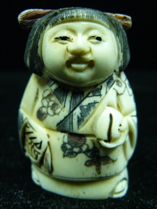 "Picture of 2"" ANTIQUE BONE JAPANESE NETSUKE (N081)"
