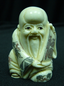 "Picture of 2"" ANTIQUE BONE JAPANESE NETSUKE (N085)"