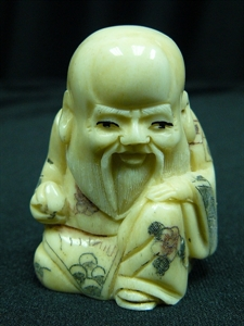 "Picture of 2"" ANTIQUE BONE JAPANESE NETSUKE (N086)"