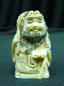 "Picture of 2"" ANTIQUE BONE JAPANESE NETSUKE (N090)"