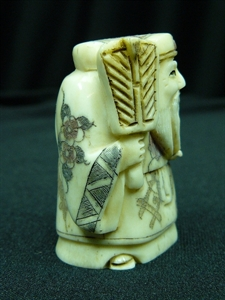 "Picture of 2"" ANTIQUE BONE JAPANESE NETSUKE (N093)"