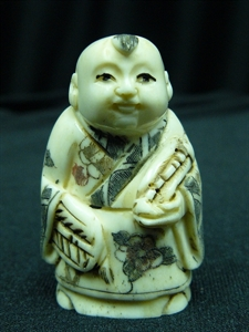 "Picture of 2"" ANTIQUE BONE JAPANESE NETSUKE (N094)"