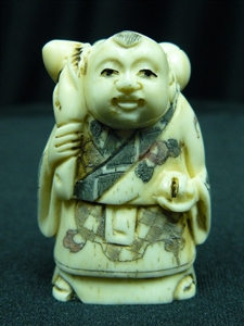 "Picture of 2"" ANTIQUE BONE JAPANESE NETSUKE (N095)"