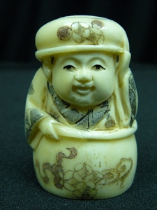 "Picture of 2"" ANTIQUE BONE JAPANESE NETSUKE (N096)"