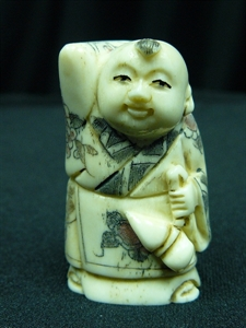 "Picture of 2"" ANTIQUE BONE JAPANESE NETSUKE (N097)"