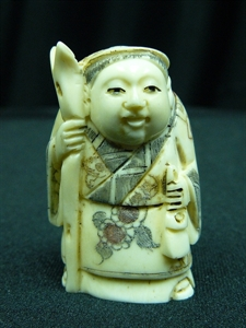 "Picture of 2"" ANTIQUE BONE JAPANESE NETSUKE (N098)"