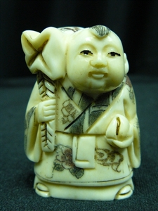 "Picture of 2"" ANTIQUE BONE JAPANESE NETSUKE (N100)"