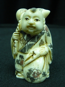 "Picture of 2"" ANTIQUE BONE JAPANESE NETSUKE (N101)"