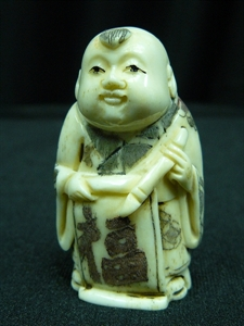 "Picture of 2"" ANTIQUE BONE JAPANESE NETSUKE (N102)"