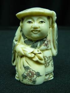 "Picture of 2"" ANTIQUE BONE JAPANESE NETSUKE (N104)"