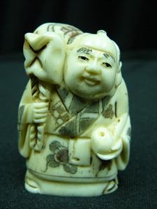 "Picture of 2"" ANTIQUE BONE JAPANESE NETSUKE (N106)"