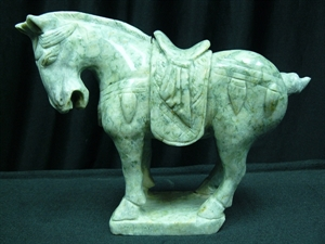 Picture of JADE SADDLED TANG HORSE (LH6B)