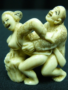Picture of Mammoth Ivory Erotic Couple (MA01)