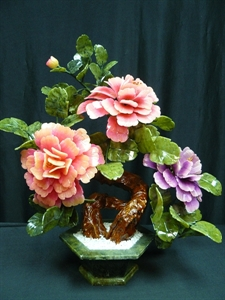 Picture of MIXED JADE BONSAI FLOWERS (201-3A)