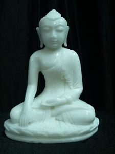 Picture of White Jade Sitting Tibet Buddha (WJ54)