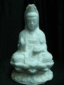 Picture of White Jade Sitting Kwanyin (WJ50)