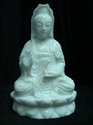 "Picture of 13"" White Jade Sitting Kwanyin  (WJ56)"