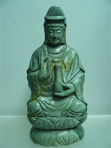 "Picture of 24"" Green Jade Sitting Kwanyin (A98)"
