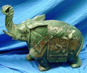 """Picture of 24"""" Green Jade Elephant (LH44)"""