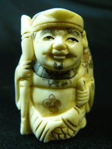 "Picture of 2"" ANTIQUE BONE JAPANESE NETSUKE (N112)"