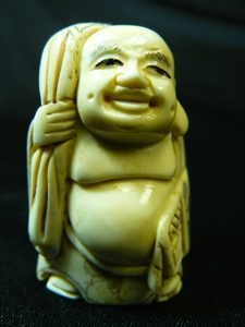 "Picture of 2"" ANTIQUE BONE JAPANESE NETSUKE (N113)"