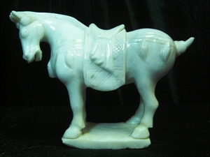 Picture of White Jade Saddled Tang Horse (LM18)