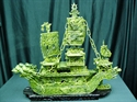 "Picture of 24"" GREEN JADE DRAGON BOAT (BJ60)"