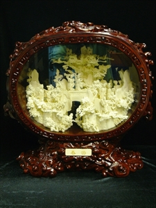 Picture of COW BONE FRAMED FAIRIES MOUNTAIN (97G)