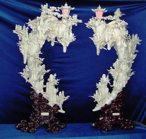 Picture of Large Pair of Bone Lanterns (9503)