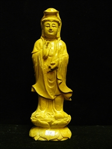 Picture of Yellow Jade Standing Kwanyin (YJ09)