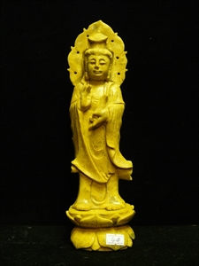 Picture of Yellow Jade Standing Kwanyin (YJ04)