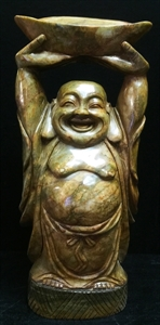 """Picture of 26"""" Antique Jade Standing Lucky Buddha (LH47)"""