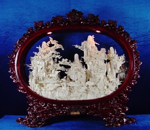 Picture of Framed Bone Horses Mountain (96D2)